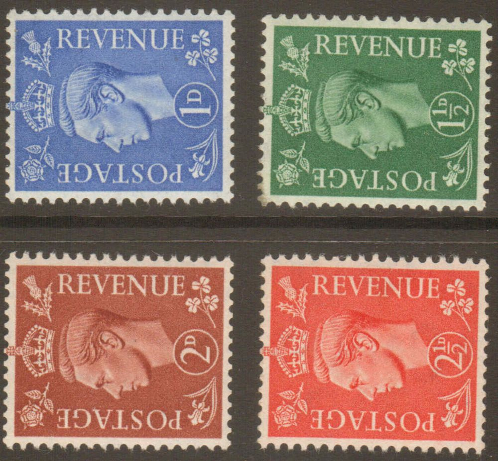 1950 George VI Sideways Watermark Stamp Set Unmounted Mint